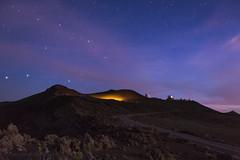Kuleana (hawaiiansupaman) Tags: eveningsky stars clouds cloudysunset nightsky haleakala haleakalanationalpark haleakalasummit observatories bluehour maui hawaii