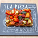 Self made veggie pizza with zucchini, sweet potato and chia