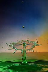 Green, yellow and blue (Wim van Bezouw) Tags: water drop splash sony ilce7m2 pluto valve plutotrigger highspeed strobist