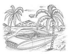 The Sheriff (rod1691) Tags: bw scifi grey concept custom car retro space hotrod drawing pencil h2 hb original story fantasy funny tale automotive art illistration greyscale moonpies