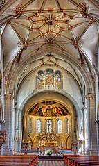 Interior St Castor basilica  -- koblenz germany (kathender1) Tags: church cathedral baroque german koblenz basilica alter painter romanesque gothic teutonic