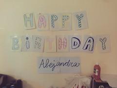 Día 2 . Happy Birthday Alejandra