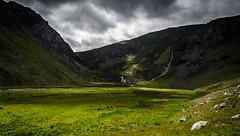 Open Glen (daedmike) Tags: scotland glenlee lochlee glen waterfall fallsofdamff valley shadow light clouds scree