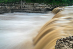 Muddy Waters (tquist24) Tags: cataractfalls indiana millcreek nikon nikond5300 outdoor geotagged limestone longexposure lowercataractfalls morning nature river rocks water waterfall spencer unitedstates