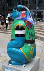 Captain Blue Bear Rear (ahisgett) Tags: birmingham children's hospital charity wild art big sleuth 2017 bearmingham