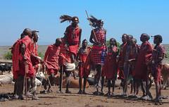 Safari (imanolg) Tags: welcome jump dancing masai masaimara safari tribu kenia africa