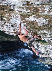 Man of the rock (jonathan charles photo) Tags: rock free climb overhang grant farquhar bermuda art photo jonathan charles