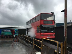 R1 steam clean... Work has progressed well! Almost time for repaint. (NOE 544R) Tags: nationalexpresswestmidlands nationalexpress lowfloor transportmuseumwythall bammot 4001 1 r1neg