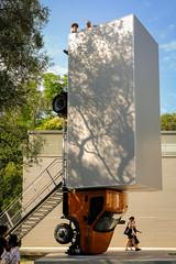 """""""Stillstehen und auf das Mittelmeer schauen"""" (Werner Schnell Images (2.stream)) Tags: ws erwin wurm biennale venezia 2017 lkw skulptur venedig venice österreichischer pavillon österreich"""