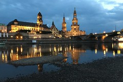 Dresden/Germany vi (summer_57) Tags: germany dresden iphone6s nightshot cityscape river architecture elbe cathedral