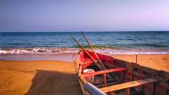 (horizonteazul) Tags: barca boat playa beach andalucía españa spain verano summer islantilla huelva atardecer explore