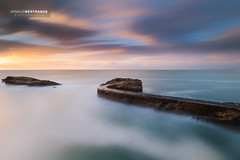 The Snake (Arnaud Bertrande | Photographe) Tags: landscape arnaudbertrande biarritz cielcoloré cloud coucherdesoleil jetée longexposure océan paysbasque paysage pierre poselongue rocher sunset