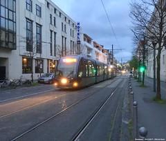 Rue de Tauzia (ernstkers) Tags: bordeaux citadis streetcar tram tramvia tranvia trolley bonde eléctrico strasenbahn spårvagn lightrail