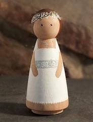 Communion Doll (Peggies Peg Dolls) Tags: pegdolls woodendoll pegpeople familypegs woodfamily ooak handmade customfamily bespoke