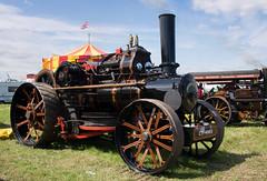 Cheshire steam fair 08 jul 17 (Shaun the grime lover) Tags: cheshire steam fair daresbury warrington halton engine flag summer vehicle wheel traction ploughing fowler chimney