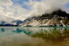 Bow Lake, Canada (Psychic Insights) Tags: canada nationalparks canon mountains snow winter lakes nature outdoors green water sky
