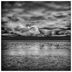 The beach (Andy2305) Tags: newgale pembrokeshire wales clouds beach blackandwhite monochrome