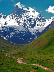 Naturaleza,senderos,Codillera Andes (Gabriel mdp) Tags: naturaleza paisaje landscape montañas cerro el morado reserva trekking senderos chile rio nieve contrastes