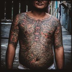 (Julien Cha.) Tags: tatoo yakuza streetphotography bangkok krungthep khlongtoei asia southeastasia tattoedman