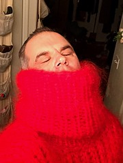 Red Mohair Turtleneck 5 (jeremyv3) Tags: sleep hypnotized hypnosis tanglescreations mohair sweaterfetish sweater turtleneckfetish turtlenecks turtleneck