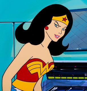 Wonder Woman, Super Friends animation cel