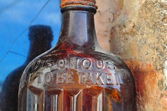 Poisonous (holly hop) Tags: poison poisonous mm macromonday bottle macro scrubbs ammonia 100xthe2017edition myplace antique collectables