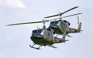 Agusta-Bell AB-212 formation - Bundesheer @ LOXZ