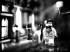 Bruce Wayne👍 (legomeee) Tags: legography legophotography legophoto brucewayne legominifigures blackandwhite blackandwhitephotography