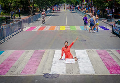 2017.06.10 Painting of #DCRainbowCrosswalks Washington, DC USA 6428