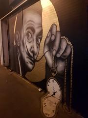 2017-04-20: Dali (psyxjaw) Tags: london londonist shoreditch spitalfields commercialstreet shop shutter graffiti street art dali artist