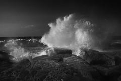 (MuraGlia g.) Tags: sea waves bigwave dramaticsea seascape blackandwhitesea rocks carloforte isoladisanpietro sardegna suditalia isola