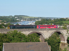 153325 & 153372 Collegewood Viaduct, Penryn (Marky7890) Tags: gwr 153325 153372 class153 supersprinter 2f89 collegewoodviaduct penryn railway train cornwall maritimeline