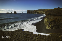 Dyrhólaey (wilbias) Tags: sky landscape sea water nature beach travel north ocean sand shore surf cliff seashore outdoors daylight atlantic south iceland dyrhólaey