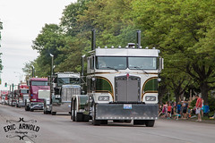 CabOver Kenworth (Eric Arnold Photography) Tags: wheel jam parade semi bigrig truck tractor trailer huron sd south dakota 2017 pete peterbilt kenworth downtown canon 80d trees park wheeljam cabover cab over chrome