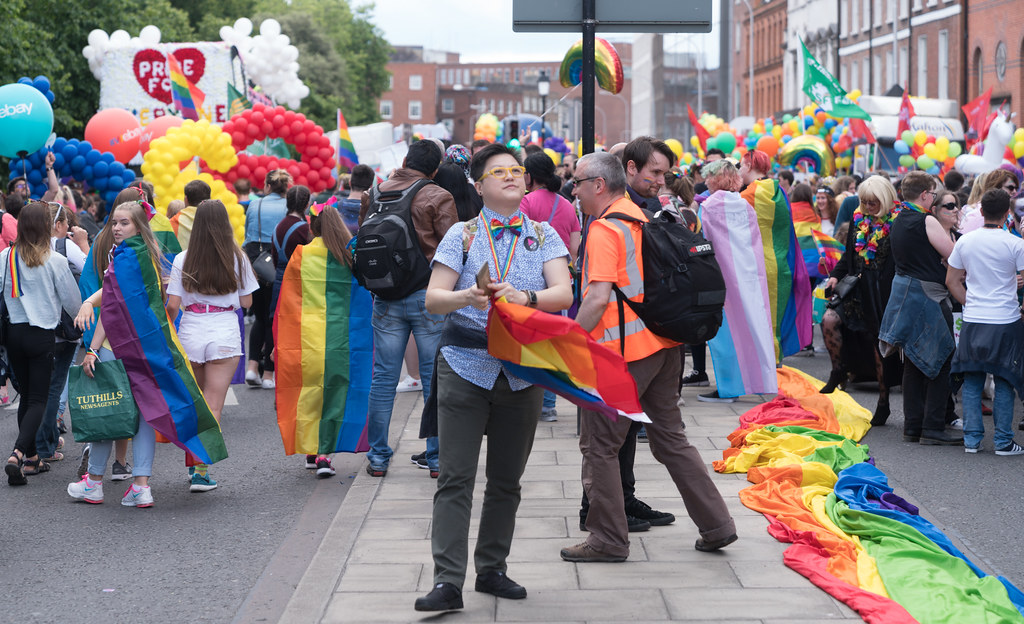LGBTQ+ PRIDE PARADE 2017 [STEPHENS GREEN BEFORE THE ACTUAL PARADE]-129773