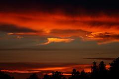 Sunset 6 8 17 #39 (Az Skies Photography) Tags: sun set sunset dusk twilight nightfall sky skyline skyscape flagstaff arizona az flagstaffaz arizonasky arizonaskyline arizonaskyscape arizonasunset cloud clouds red orange yellow gold golden salmon june 8 2017 june82017 6817 682017 canon eos 80 canoneos80d eos80d