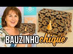 Bauzinho Chique com revestimento de lonita ou tecido (portalminas) Tags: bauzinho chique com revestimento de lonita ou tecido