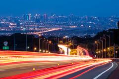 Good night Taichung (Mr.Saengphon) Tags: architecture canon carlighttracks city eosm3 freeway light outdoor road sky taichung taiwan taiwancityscape tamron70300divcusd twilight urban changhuacity taiwanprovince tw