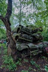 SP-11 (StussyExplores) Tags: austria scrapyard vintage cars teeth rust decay abandoned left behind vehicles explore exploration urebx