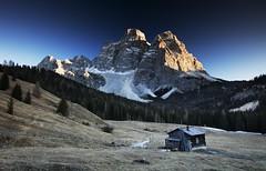 Monte Pelmo Sunset (Kevin.Grace) Tags: italy dolomiti dolomites hut mountain snow sunset landscape