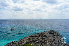 DSC00253 (Hendraxu) Tags: sea ocean water teal seaside side shore batangas philippines fortune island rock boat sky cloud travel destination tourist spot summer