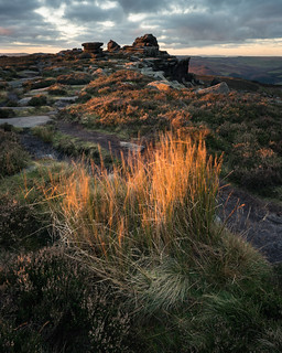 First Light on Over Owler Tor