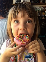 Donut (irene_joy) Tags: darkhorse sandiego rainbow fruitypebbles pink parade pride donut nola