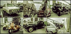 # Mirando al Pasado ... (A.M.G.1969) Tags: amg amg1969 aplicacióndelacámara exposiciones expos españa islasbaleares mallorca car clasicos coches motos vespa renault seat llucmajor 600 4ruedas 2ruedas gente