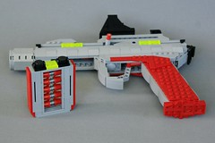 M-Tron C-5 Blaster (soccersnyderi) Tags: lego blaster space scifi weapon pistol sidearm clip working removable sight trigger handle barrel charging rail