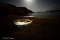De noche en la playa (pedrojateruel) Tags: barca noche mazarron playa