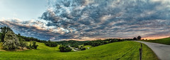 IMG_4136-41Ptzl1TBbLGEM (ultravivid imaging) Tags: ultravividimaging ultra vivid imaging ultravivid colorful canon canon5dmk2 clouds sunsetclouds summer farm fields pennsylvania pa panoramic scenic vista sunset road countryscene greenscene