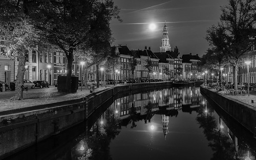 Full moon over Groningen