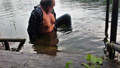 rainy (marcostetter) Tags: wet wetclothing wetclothes wetjeans wetlook wetshirt rain jeans bluejeans tinyjeans water lake landscape