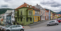 """""""Holbergsallmenningen, """" (Terje Helberg Photography) Tags: panorama block blocks candid car cars citylife cityscape clouds color colorful holbergsallmenningen sky street streetphotography streetlife urban city travel house old architecture roof building town home facade outdoors daylight front photography"""